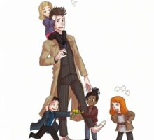 Doctor Who & Companions Sticker