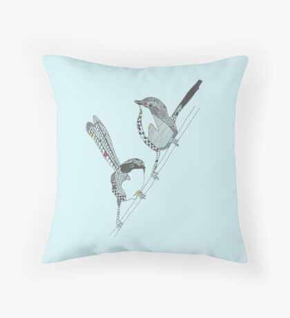 Fairy Wrens Throw Pillow
