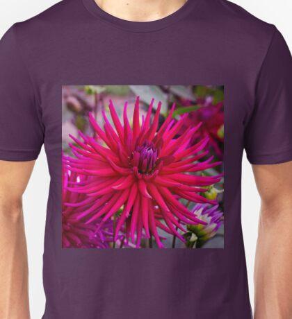 Spiky Pink Dahlia Unisex T-Shirt