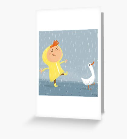 Nice weather for ducks Greeting Card