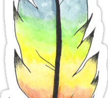 Watercolour Feather Sticker