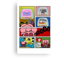 Capitan Cerdicola With Peppa Pig As Special Guest Star Canvas Print