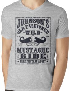 MUSTACHE RIDE Mens V-Neck T-Shirt