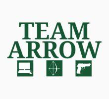 Team Arrow - Symbols w/ Text - Weapons Kids Tee