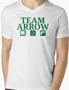 Team Arrow - Symbols w/ Text - Weapons Mens V-Neck T-Shirt