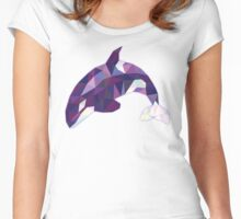 Purple Dolphine Women's Fitted Scoop T-Shirt