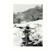 Snowy Stream, Petworth. Art Print
