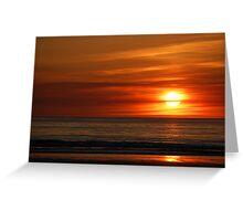 Banna Sunset Greeting Card