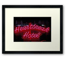Heartbreak hotel neon Framed Print