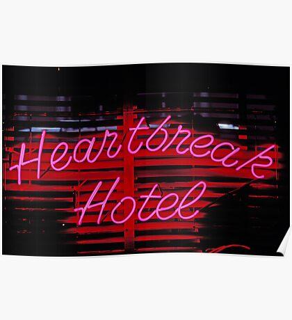 Heartbreak hotel neon Poster