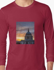 St Paul's Cathedral Sunset Long Sleeve T-Shirt