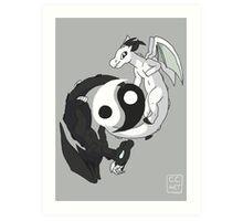 Yin & Yang Dragons Art Print