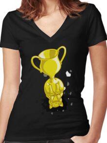 Catasstrophy Women's Fitted V-Neck T-Shirt