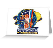 ISS: One Year Mission Logo Greeting Card