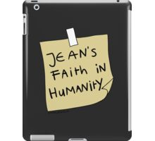 Jean's Faith in Humanity iPad Case/Skin