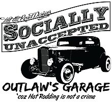 Outlaw's Garage. Socially unaccepted Hot Rods Photographic Print