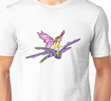 Dragonfly Riding Faerie Unisex T-Shirt