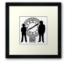 Eight o'clock, runt. Framed Print