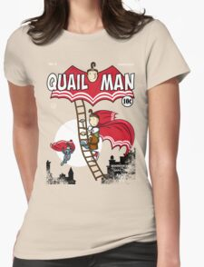 The Dark Quail Womens Fitted T-Shirt