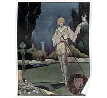 Henry Clarke Illustration for The Song of the Mad Prince in The Years at the Spring Poster