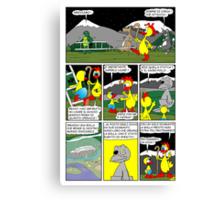 """Rick the chick  """"THE MAGIC SHELL (Il sacro pollo) parte 20"""" Canvas Print"""