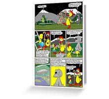 "Rick the chick  ""THE MAGIC SHELL (Il sacro pollo) parte 20"" Greeting Card"