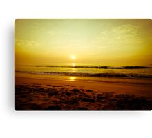 Surfer in the beach Canvas Print