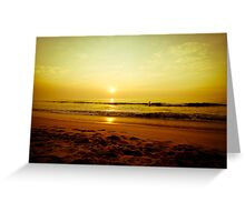 Surfer in the beach Greeting Card