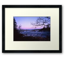 Early morning with a river Framed Print