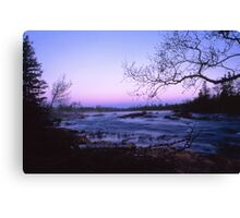 Early morning with a river Canvas Print