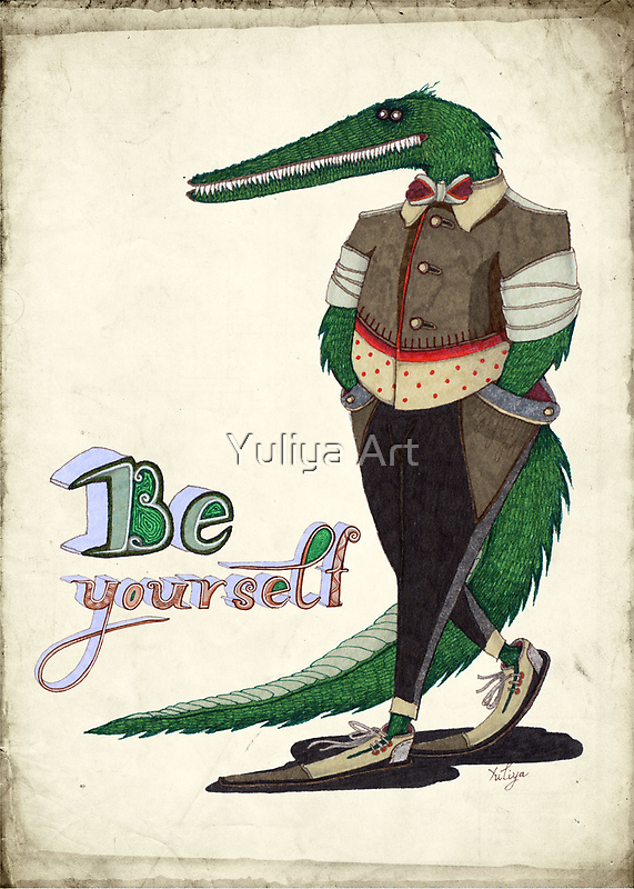 Walking Crocodile by Yuliya Art