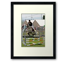 Up and Over - Junior Jumping Royal Hobart Show 2011 Framed Print