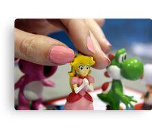 Princess Peach Pawn Metal Print