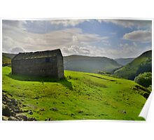 Yorkshire: A Barn Near Keld Poster
