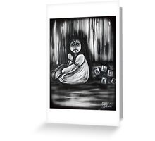 Girl In The Little White Nightgown Series 1- Alone Greeting Card