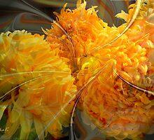 Dance of yellow chrysanthemums by kindangel