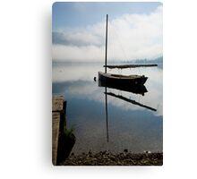Misty morning on Lake Bohinj Canvas Print