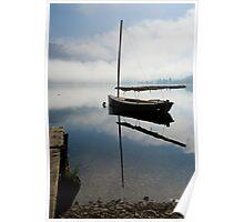 Misty morning on Lake Bohinj Poster