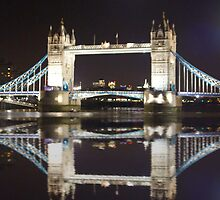 iPhone 4 Case Tower Bridge Refelection by Sean Foreman