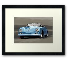 Porsche 356 Speedster blue Framed Print