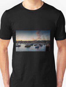 Sunset over St Ives Harbour, Cornwall UK T-Shirt