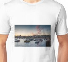 Sunset over St Ives Harbour, Cornwall UK Unisex T-Shirt