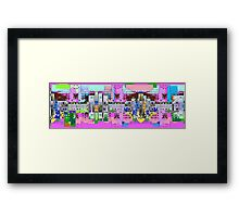 pinky town Framed Print