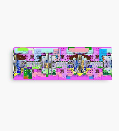pinky town Canvas Print