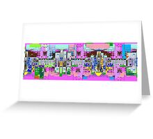 pinky town Greeting Card