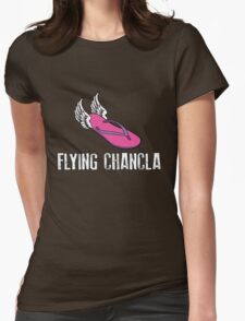 Flying Chancla Womens Fitted T-Shirt
