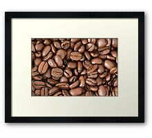 fresh coffee beans Framed Print