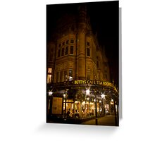Bettys At Night Greeting Card