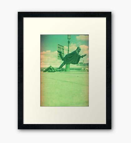 upps falling down Framed Print