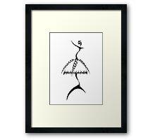 fashion illustration_4 Framed Print